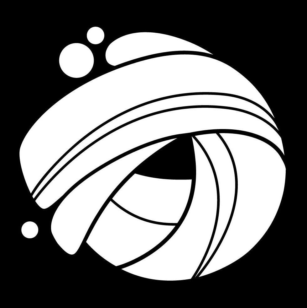 Black white swirl